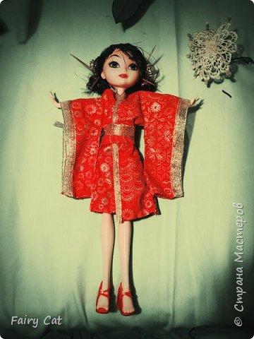 """ハイ! 想像していただくポジションでの競争""""のなかの日本"""" (Здравствуйте! Представляю свою работу на конкурс """"Япония"""") . Куколку зовут Рейчел(сестра Рейвен(сама придумала)) фото 7"""