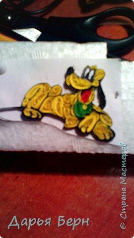 Фоторамка подарок племяннице на день рождения. Она очень любит мультики про Микки Мауса, поэтому решила сделать рамку с этими персонажами. Делала рамку 2 года назад, нашла фото, решила поделиться. Надеюсь кому то пригодиться =) фото 3