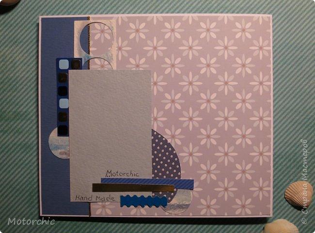 Давно я не делала открыточек, исправляюсь =) Сегодня у меня открытка в голубых тонах. фото 8