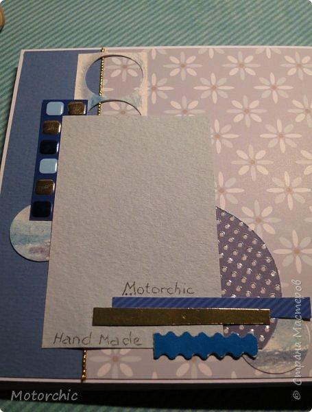 Давно я не делала открыточек, исправляюсь =) Сегодня у меня открытка в голубых тонах. фото 9