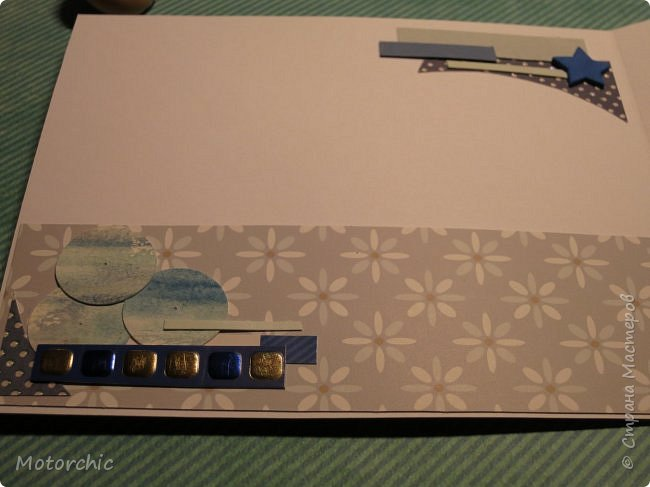 Давно я не делала открыточек, исправляюсь =) Сегодня у меня открытка в голубых тонах. фото 6