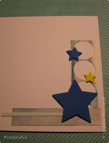 Давно я не делала открыточек, исправляюсь =) Сегодня у меня открытка в голубых тонах. фото 7