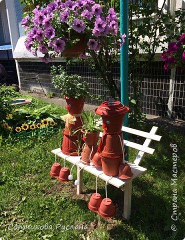 Дружная семейка из цветочных горшков. фото 3