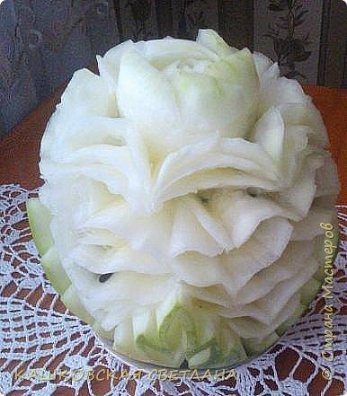 Вот такой попался арбуз. Белый, как платье невесты. фото 3