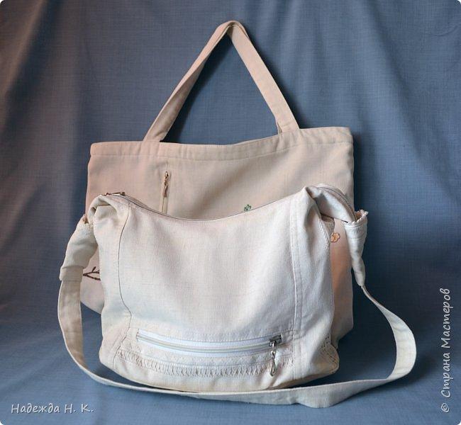 Здравствуйте, доброго времени суток, жители и гости СМ! Сегодня я хочу вам показать свои летние сумочки, сделанные в разное время, но с большой любовью. Особых талантов  в шитье не имею, поэтому модели выбираю простые, при этом больше уделяю внимания отделке. фото 2