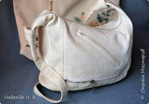 Здравствуйте, доброго времени суток, жители и гости СМ! Сегодня я хочу вам показать свои летние сумочки, сделанные в разное время, но с большой любовью. Особых талантов  в шитье не имею, поэтому модели выбираю простые, при этом больше уделяю внимания отделке. фото 8