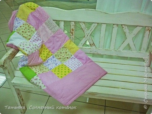 """Лоскутное одеяло """"Нежный сон"""" фото 1"""