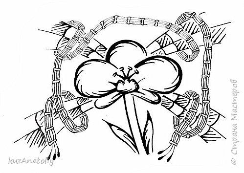 Как нарисовать орхидею - Орхидея в стиле зентангл