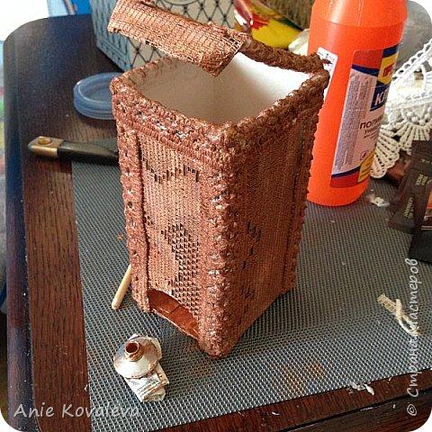 Вот такая чайная коробочка к комплекту, который выкладывала вчера фото 15