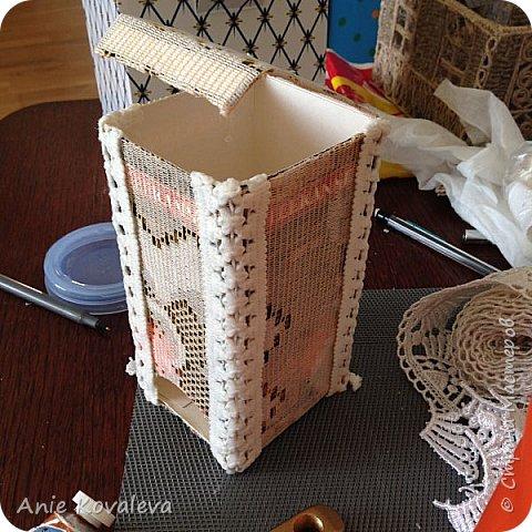 Вот такая чайная коробочка к комплекту, который выкладывала вчера фото 11