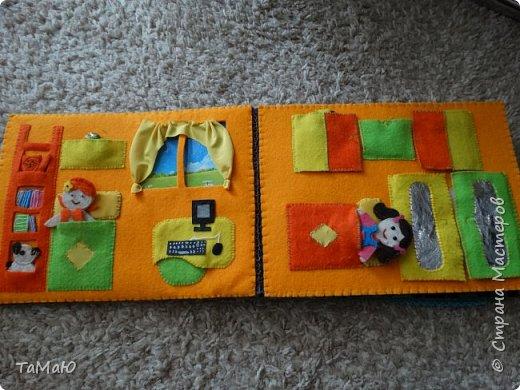Для удобства домик сделала в виде книжки, в нем живут 2 куколки-девочки. фото 3