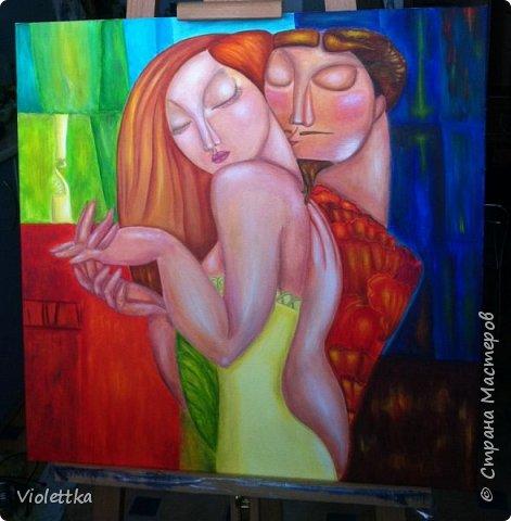 """Уважаемые жительницы Страны,  хочется пожелать всем вам красочной и яркой любви, такой как на этой картине!  """"Краски любви""""!  Это творческая копия картины казахской художницы Акжаны Абдалиевой!  Хорошего вам настроения и теплого лета в душе! фото 1"""
