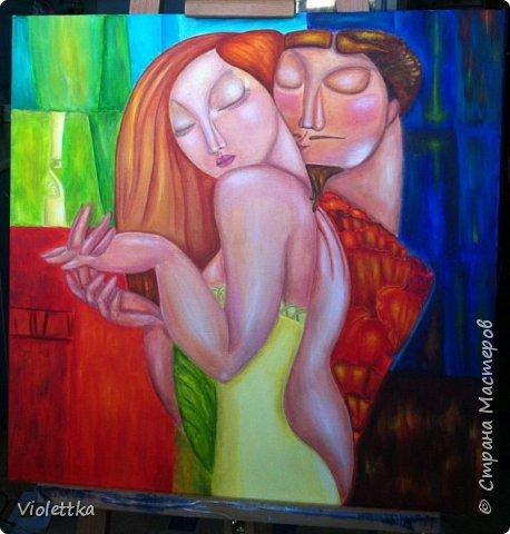 """Уважаемые жительницы Страны,  хочется пожелать всем вам красочной и яркой любви, такой как на этой картине!  """"Краски любви""""!  Это творческая копия картины казахской художницы Акжаны Абдалиевой!  Хорошего вам настроения и теплого лета в душе! фото 2"""
