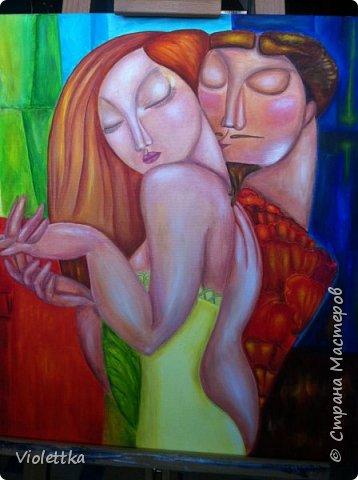 """Уважаемые жительницы Страны,  хочется пожелать всем вам красочной и яркой любви, такой как на этой картине!  """"Краски любви""""!  Это творческая копия картины казахской художницы Акжаны Абдалиевой!  Хорошего вам настроения и теплого лета в душе! фото 6"""