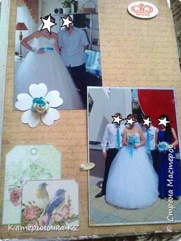 Наконец то сделала альбомчик для любимой сестренки. Свадьба была еще тем летом, а альбомчик появился буквально недавно. Смотрите что получилось. фото 13