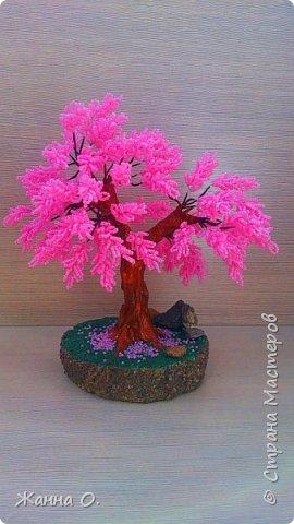 Это деревце сделано по заказу для подруги. Насыщенный розовый цвет радует не только глаз, но и душу.  фото 1