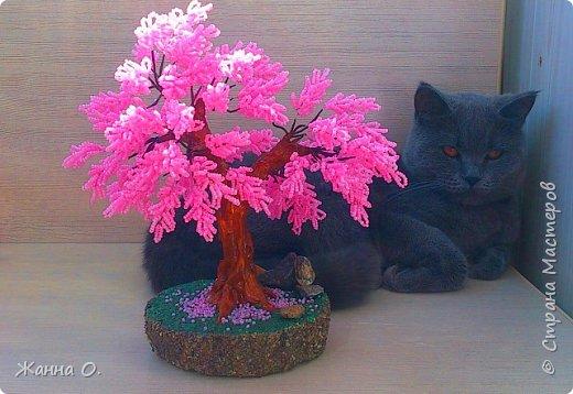 Это деревце сделано по заказу для подруги. Насыщенный розовый цвет радует не только глаз, но и душу.  фото 2