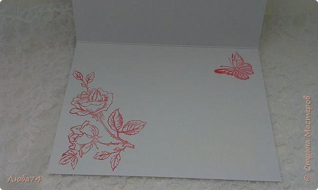 """Всем привет! У нас на улице жара, поэтому у меня сегодня серия летних открыток с """"бабочками"""" на все случаи жизни. Размер открыток 14,8 х 10,5 см. Основа готовые заготовки для открыток, подложки с тиснением, распечатанные бабочки на фотобумаге, шильдики с надписями. фото 5"""