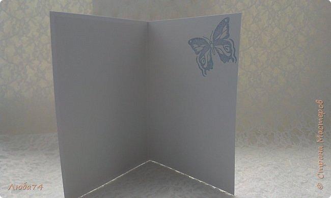 """Всем привет! У нас на улице жара, поэтому у меня сегодня серия летних открыток с """"бабочками"""" на все случаи жизни. Размер открыток 14,8 х 10,5 см. Основа готовые заготовки для открыток, подложки с тиснением, распечатанные бабочки на фотобумаге, шильдики с надписями. фото 21"""