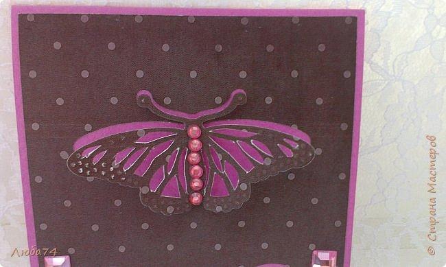 """Всем привет! У нас на улице жара, поэтому у меня сегодня серия летних открыток с """"бабочками"""" на все случаи жизни. Размер открыток 14,8 х 10,5 см. Основа готовые заготовки для открыток, подложки с тиснением, распечатанные бабочки на фотобумаге, шильдики с надписями. фото 23"""