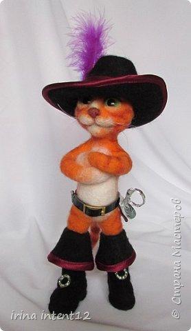 """Вот такой геройский кот у меня получился. Прообраз - кот из """"Шрека"""". фото 2"""