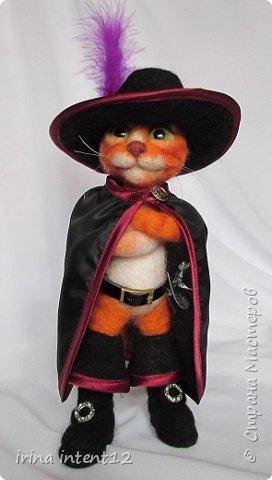 """Вот такой геройский кот у меня получился. Прообраз - кот из """"Шрека"""". фото 1"""