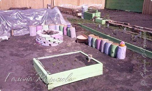 Добрый день ! Вот решила выложить свои весенние труды . Это мой двор в процессе работы . Это грядки под клубнику . фото 14