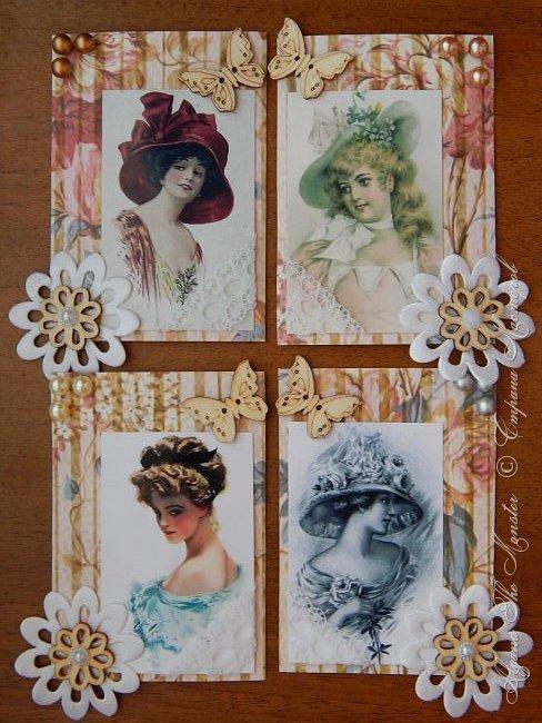 """Серия карточек на тему """"Старый чердак"""". Серия называется """"Дамы эпохи"""". Выбирают только участники игры."""