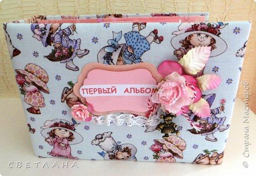 Альбомчик  для  девочки -  обложка  мягкая , американский хлопок. Небольшой  по  размеру  -  15х23 ( листы)  . 7 листов , 8 разворотов. фото 1