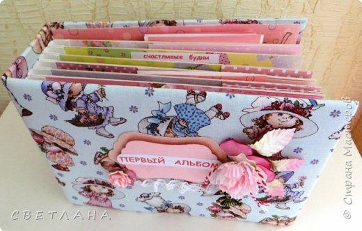 Альбомчик  для  девочки -  обложка  мягкая , американский хлопок. Небольшой  по  размеру  -  15х23 ( листы)  . 7 листов , 8 разворотов. фото 2