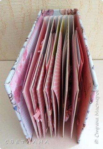 Альбомчик  для  девочки -  обложка  мягкая , американский хлопок. Небольшой  по  размеру  -  15х23 ( листы)  . 7 листов , 8 разворотов. фото 3