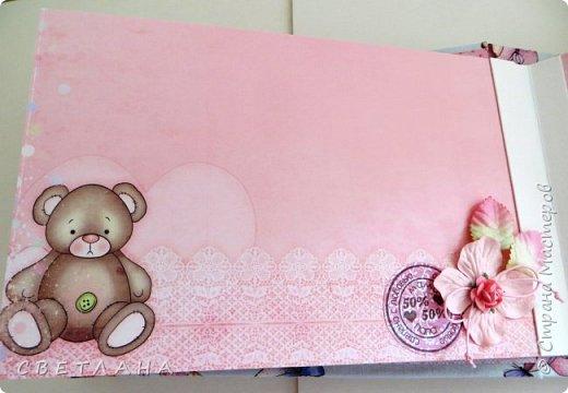 Альбомчик  для  девочки -  обложка  мягкая , американский хлопок. Небольшой  по  размеру  -  15х23 ( листы)  . 7 листов , 8 разворотов. фото 7