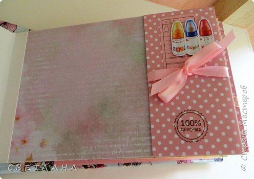 Альбомчик  для  девочки -  обложка  мягкая , американский хлопок. Небольшой  по  размеру  -  15х23 ( листы)  . 7 листов , 8 разворотов. фото 10