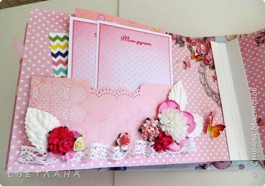Альбомчик  для  девочки -  обложка  мягкая , американский хлопок. Небольшой  по  размеру  -  15х23 ( листы)  . 7 листов , 8 разворотов. фото 11