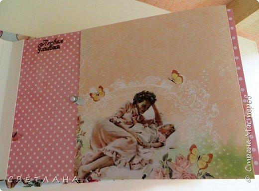 Альбомчик  для  девочки -  обложка  мягкая , американский хлопок. Небольшой  по  размеру  -  15х23 ( листы)  . 7 листов , 8 разворотов. фото 12