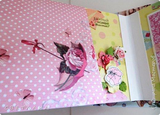Альбомчик  для  девочки -  обложка  мягкая , американский хлопок. Небольшой  по  размеру  -  15х23 ( листы)  . 7 листов , 8 разворотов. фото 15