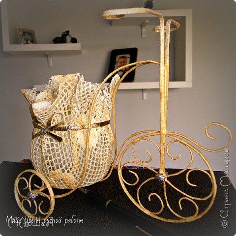 Здравствуйте жители страны!!!! Смастерила вот такой вот велосипедик для своих цветочков. Мк взяла из интернета, но доработала его и добавила свои идеи. Как закончила-подумала что может нужен мк более подробный, так что скажите что думаете. фото 1