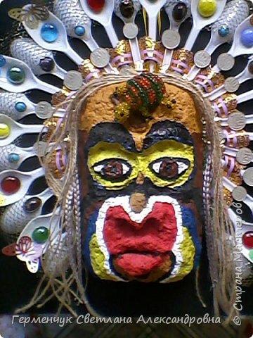 """Это-  маска индейцев.Название"""" индейцы """"возникло ошибочно,так как  европейские мореплаватели считали, что открыли Индию. фото 9"""