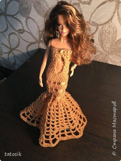 Платье для Barbie крючком фото 6