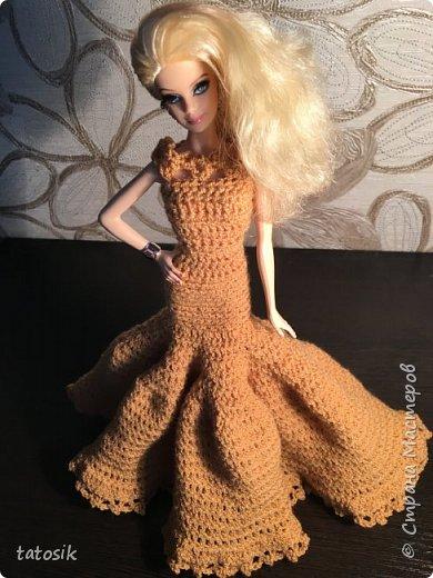 Платье для Barbie крючком фото 10