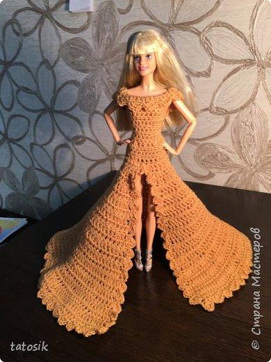 Платье для Barbie крючком фото 12