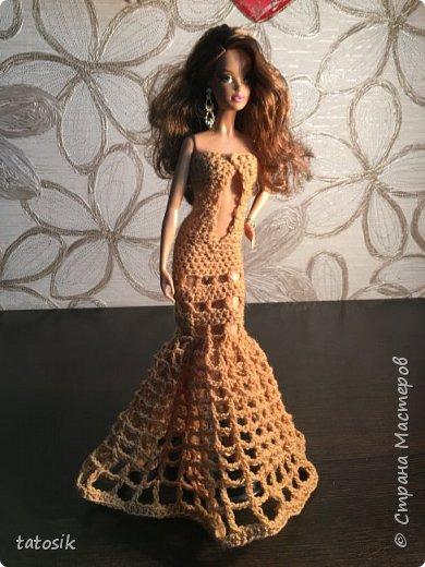 Платье для Barbie крючком фото 2