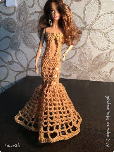 Платье для Barbie крючком фото 3