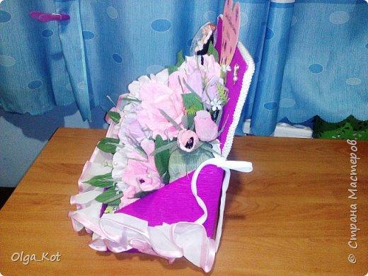 Пригласили нас на свадьбу, вот я и решила сделать композицию с цветами и конфетами в подарок.  фото 6