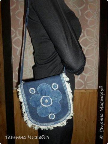 Джинсовая сумочка фото 2