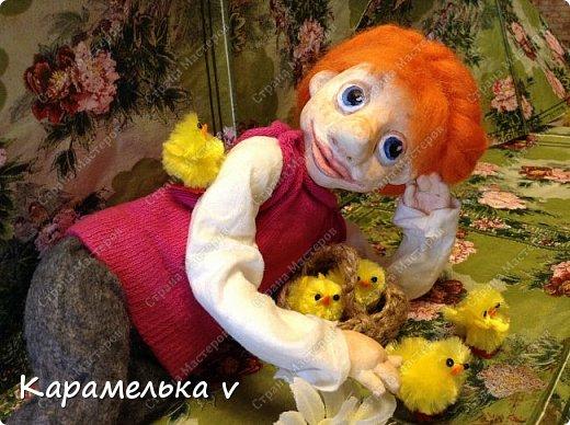 Всем привет!)вот такая куколка у меня вылепилась)Смешная,но мне нравиться)Много недочетов и ошибок,но есть куда стремиться и чему учиться;) фото 7
