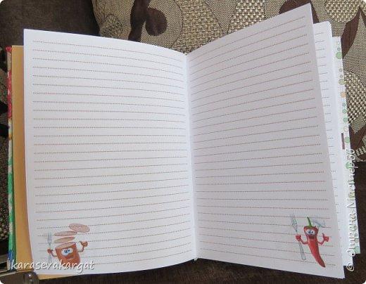 Мой первый блокнот с коптским переплетом. Сестра попросила сделать. Дизайн страниц для записи разрабатывала она. От меня только переплет и украшение разворотов. фото 7