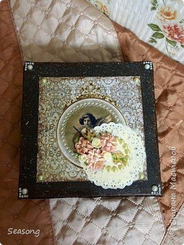 Винтажная коробка для хранения всякостей фото 2