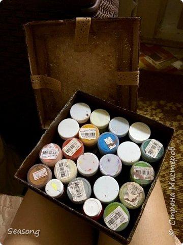 Винтажная коробка для хранения всякостей фото 5