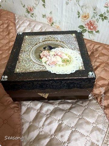 Винтажная коробка для хранения всякостей фото 3